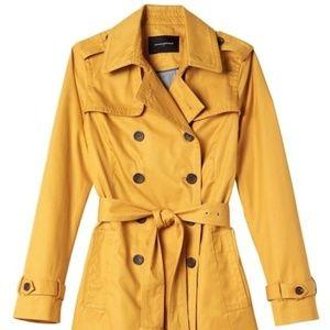 Banana Republic Mustard Yellow Short Trench Coat